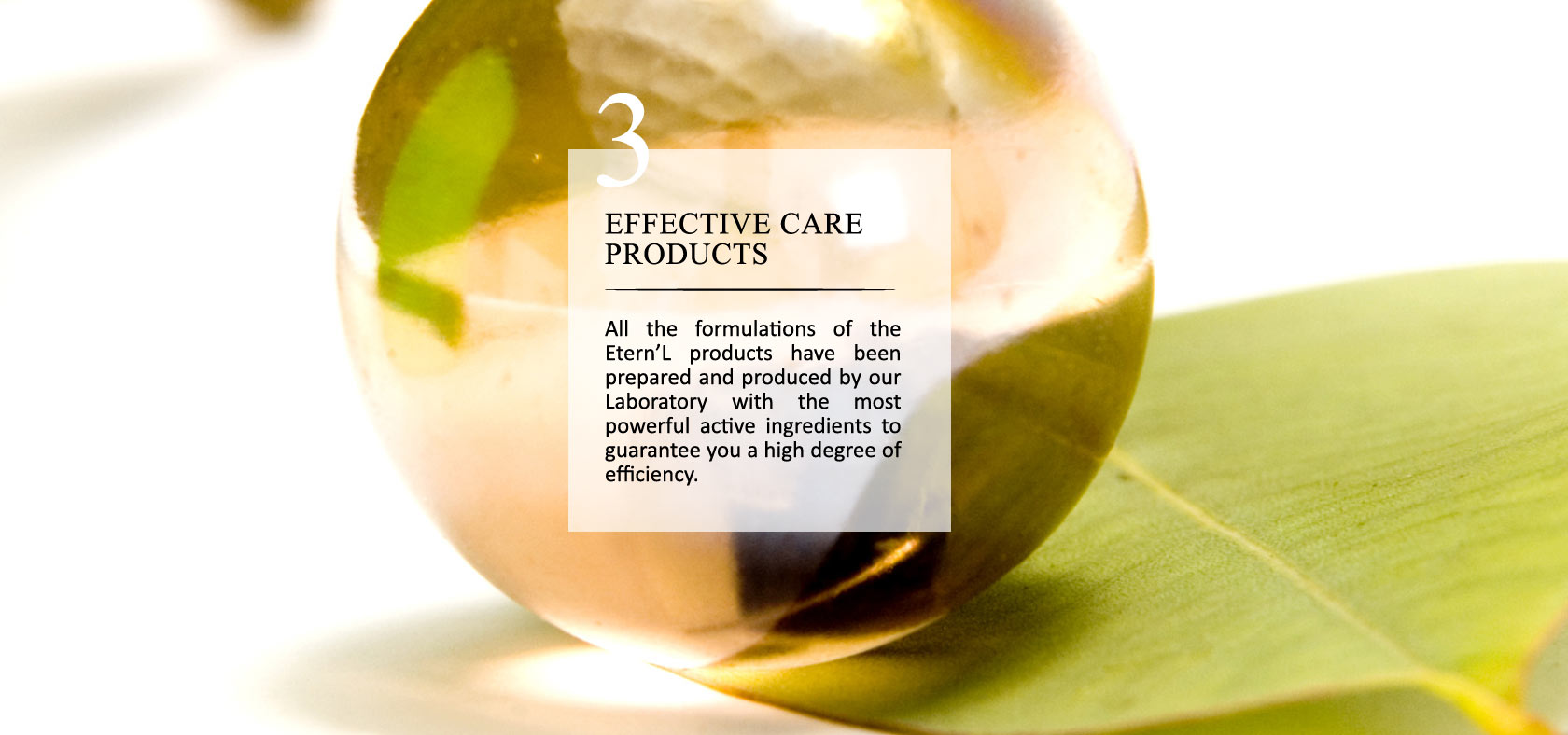 Éternel commitment #3: effective care products